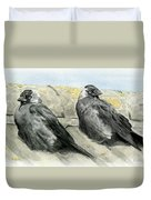Jackdaws In The Sun Duvet Cover