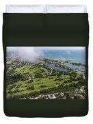 Jackson Park Golf Course In Chicago Aerial Photo Duvet Cover