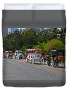 Jackson Square Horse And Buggies Duvet Cover