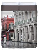 Jackson Square Rainy Day  Duvet Cover