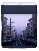Jackson Street San Francisco Duvet Cover
