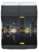 Jacksonville Black Night Lights Duvet Cover