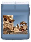 Jagdish Hindu Temple, Udaipur Duvet Cover