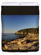Jagged Coast Of Maine Duvet Cover
