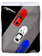 Jaguar E-type - 3 Times The Fun Duvet Cover