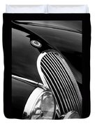Jaguar Grille Black And White Duvet Cover