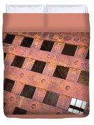 Rusty Jailhouse Door Duvet Cover