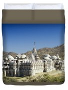 Jain Temple Of Ranakpur Duvet Cover