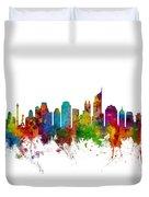 Jakarta Skyline Indonesia Duvet Cover