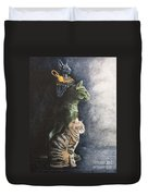 Jake And The Ancestors-pet Portrait Duvet Cover