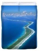 Jaluit Atoll And Lagoon Duvet Cover