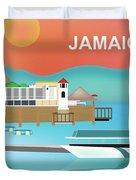 Jamaica Horizontal Scene Duvet Cover