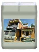 Jamaican Apartments Duvet Cover