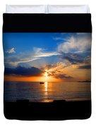 Jamaican Sunset Rays  By Steve Ellenburg Duvet Cover