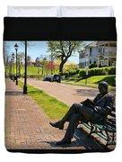 James Bradley Statue 4211 Duvet Cover