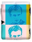 James Dean Pop Art Duvet Cover