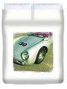 James Dean Porsche Spyder 550 Duvet Cover