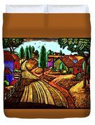 James Lesesne Wells' Farmlands Duvet Cover