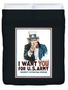 I Want You For U.s. Army Duvet Cover