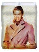 James Stewart, Vintage Hollywood Legend Duvet Cover