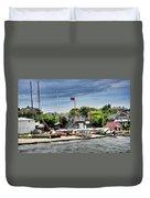 Jamestown Boat Yard Duvet Cover