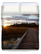 Jamestown Forest Loop Sunset Duvet Cover