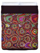 Janca Abstract Panel #097e10 Duvet Cover