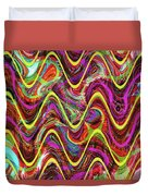 Janca Abstract Wave Panel #5at Duvet Cover
