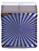 Janca Blue Oval Abstract 9646w11 Duvet Cover