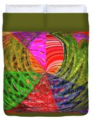 Janca Colors Panel Abstract # 5212 Wtw7 Duvet Cover