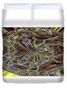 Janca Oval Abstract 4917 W3a Duvet Cover