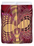 Janca Red And Yellow Abstract  Duvet Cover