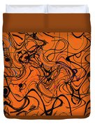 Janca Red Power Tower Abstract Duvet Cover