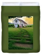 Jandy's Shed Duvet Cover by Stephanie Calhoun