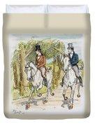 Jane Austen: Illustration Duvet Cover
