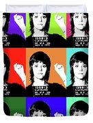Jane Fonda Mug Shot X9 Duvet Cover