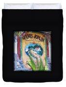 Janis Joplin In Concert Mural Duvet Cover
