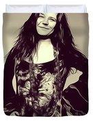 Janis Joplin, Music Legend Duvet Cover