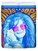 Janis Stamp Painting Duvet Cover