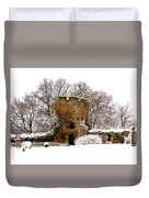 January Snow In England  Duvet Cover