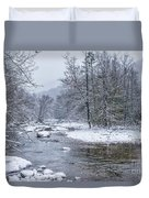 January Snow On The River Duvet Cover