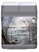 January Winds And Waves Duvet Cover