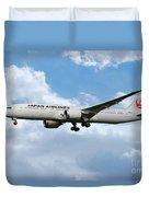 Japan Airlines Boeing 787 Dreamliner Duvet Cover