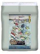 Japan: Dutch Ship Duvet Cover