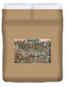 Japan: Earthquake, 1855 Duvet Cover