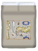 Japan: Map, 1606 Duvet Cover