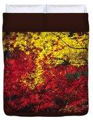 Japan Vibrant Leaves Duvet Cover
