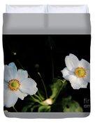 Japanese Anemone Flower Duvet Cover