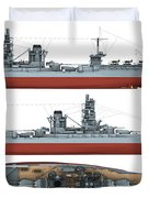 Japanese Battleship Ise Duvet Cover