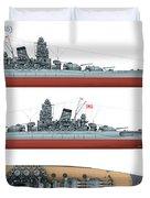 Japanese Battleship Yamato Duvet Cover